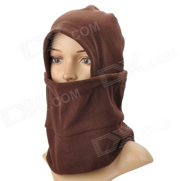 CoolChange 20006 Cycling Thicken Fleeces Face Mask / Hat / Scarf - Black - Free Shipping - DealExtreme