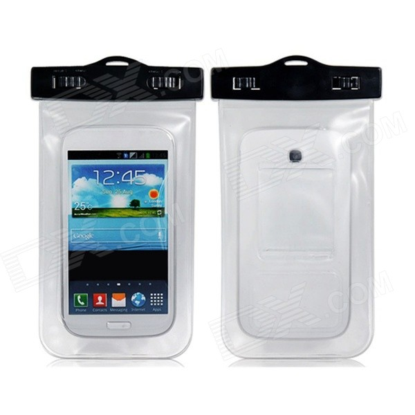 "20m Waterproof Bag Case for 5.7"" Cell Phone / Samsung Galaxy Note 3 N9000 - White"