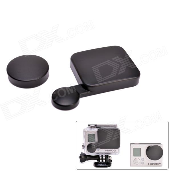 A-LC3+ Protective Lens Cap Set for GoPro Hero 4 / 3+ - Black