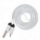 Flat Micro USB to USB 2.0 Data Charging Cable for Phones - White (1m)