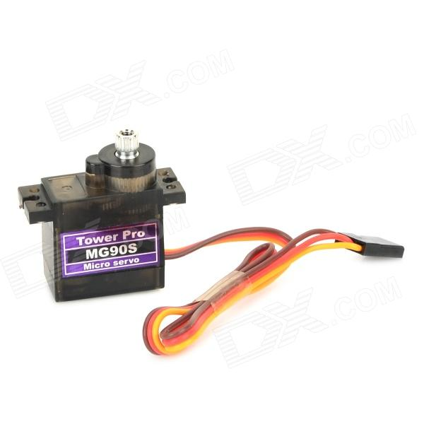 MG90S Metal Geared Micro Servo for Plane Helicopter Car Boat - Black