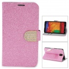 N3-3 Shining Protective PU Leather Case for Samsung Galaxy Note 3 N9000 - Pink