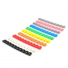 Color numérico codificado Cat.5 cable de la red Organización marcadores (100 PCS)