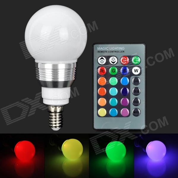 Buy YUIN05 E14 3W 180lm LED RGB Light Bulb w/ Remote Controller (85~265V) with Litecoins with Free Shipping on Gipsybee.com