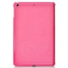 Protective 3-Section Folding PU Leather Case w/ Auto Sleep for Ipad AIR - Deep Pink