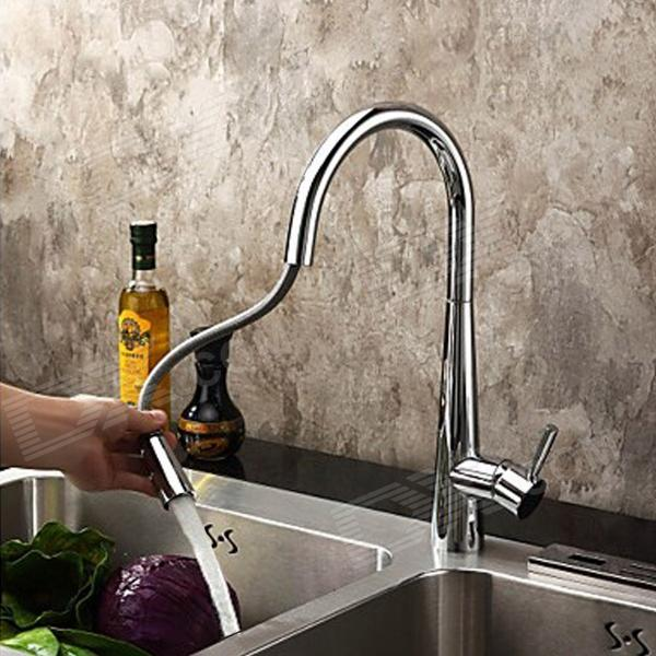 YDL-F-0524-Contemporary-Chromeplate-Spring-Pull-Out-Kitchen-Faucet-Silver