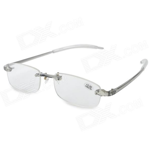 Dx coupon: +2.00 Diopter Plastic Frame Resin Lens Presbyopia Reading Glasses - Transparent