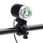 ZHISHUNJIS 2400lm 4-Mode White Bicycle Light - Black + Silver