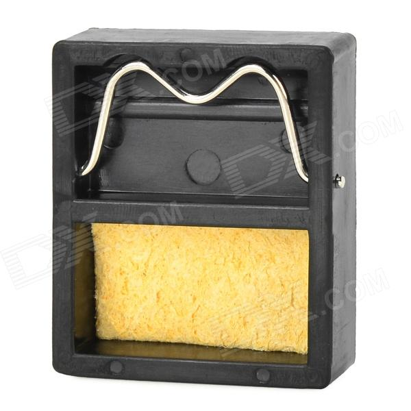 WLXY WL-002 Mini Soldering Iron Stand w/Cleaning Sponge - Black+YellowSoldering Supplies<br>ColorBlack + YellowPowerOthers,BrandWLXYModelWL-002Quantity1 PieceMaterialHigh temperature bakelite + SpongeOther FeaturesLightweight and high temperature resistance; Convenient to place soldering iron; Comes with cleaning sponge; A muse-have in the process of soldering.Packing List1 x Soldering iron stand 1 x Cleaning sponge<br>