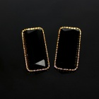 Sexy Elongated Zinc Alloy Women's Earrings - Black (Pair)
