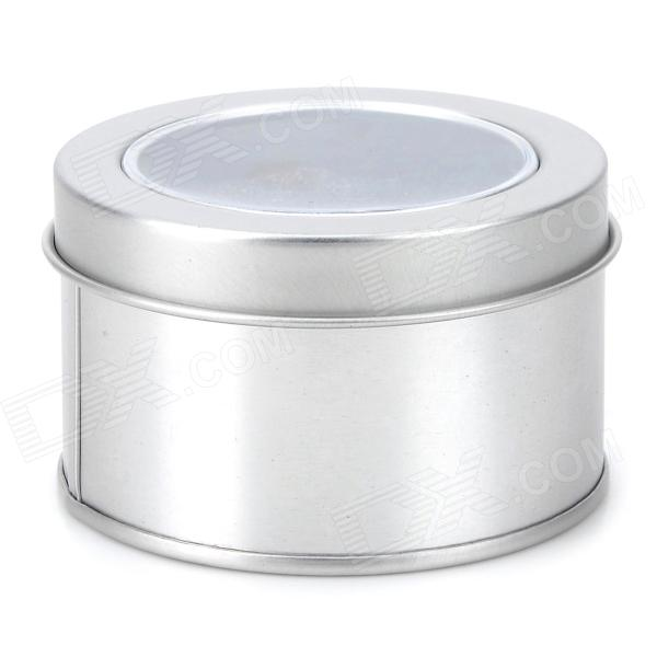 High Quality Cylindrical Iron Gift Box w/ Sponge - Silver