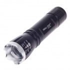 Small Sun ZY-S10 3W 90lm 6000K 1-LED Zooming White Flashlight - Black (1 x AA)