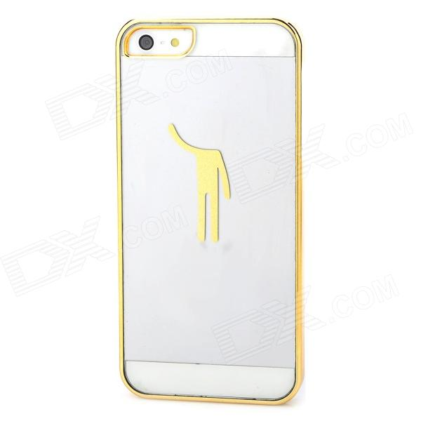 Protective ABS Back Case for Iphone 5 / Iphone 5S - Golden + Transparent