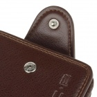 Chase boom WJ320 Fashionable PU Leather Folding Men's Wallet Purse - Dark Brown