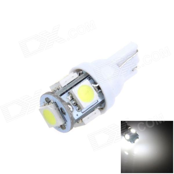 T10 / 194 / W5W 1W 100lm 5*SMD 5050 LED White Car Lamp (12V)