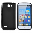 PUDINI LX-G730 Protective TPU Back Case for Huawei G730 - Black