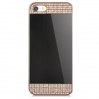 Mirror Style Protective Aluminum Alloy Back Case for Iphone 5 / Iphone 5S - Golden + Champagne