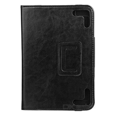 """Stylish Protective PU Leather Case for 7.85"""" Tablet PC - Black"""