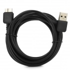 Plastic USB 3.0 / Micro USB 3.0 9pin Charging / Data Cable for Samsung Note 3 / N9000 - Black (3m)