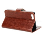 DYTI-003 PU + PC Case w/ Stand / Card Slots for IPHONE 5/5S - Brown