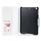 Protective PU Leather + PC Case for Retina Ipad MINI - Black + White