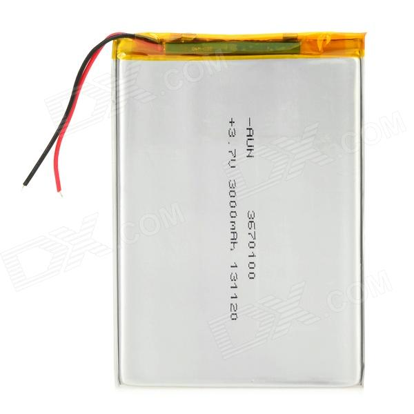 "Replacement 3.7V 3000mAh Lithium Battery for 7~10"" Tablet PC -Silver"