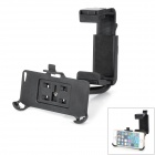 B-4G 360 Degree Rotational Car Rearview Mirror Mount Holder for Iphone 5C - Black
