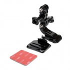 M-H3 Adjustable Helmet Mount for Gopro Hero 4/3+ / Hero3 / Hero2 / Hero / SJ4000 - Black