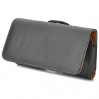 B-9082 Protective PU Leather Case w/ Waist Buckle for Google Nexus 5 - Black