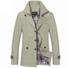 DIYOUER 5858 Stylish Men's Long Casual Windbreaker - Khaki (Size-L)