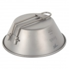 Titanium Alloy Folding Handle Bowl - Silver Grey (300mL)