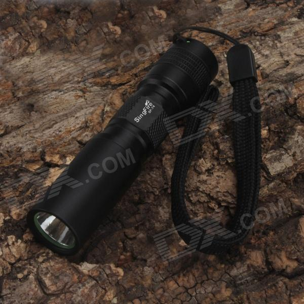 SingFire SF-74 180lm 1-Mode White Super Mini LED FlashlightsAA Flashlights<br>Form  ColorBlackBrandSingFireModelSF-74Quantity1 DX.PCM.Model.AttributeModel.UnitMaterialAluminum alloyEmitter BrandCreeLED TypeXP-EEmitter BINR2Color BINCold WhiteNumber of Emitters1Working Voltage   1.5-3.7 DX.PCM.Model.AttributeModel.UnitPower Supply1*AA  battery(not included AA and 14500 battery)Current600 DX.PCM.Model.AttributeModel.UnitTheoretical Lumens180 DX.PCM.Model.AttributeModel.UnitActual Lumens170 DX.PCM.Model.AttributeModel.UnitRuntime2 DX.PCM.Model.AttributeModel.UnitNumber of Modes1Mode ArrangementHiMode MemoryNoSwitch TypeReverse clickySwitch LocationTailcapLensGlassReflectorAluminum TexturedBeam Range50 DX.PCM.Model.AttributeModel.UnitStrap/ClipStrap includedOther FeaturesMini FlashlightCertificationCE/RoHSPacking List1 x Flashlight with strap1 x English user manual<br>