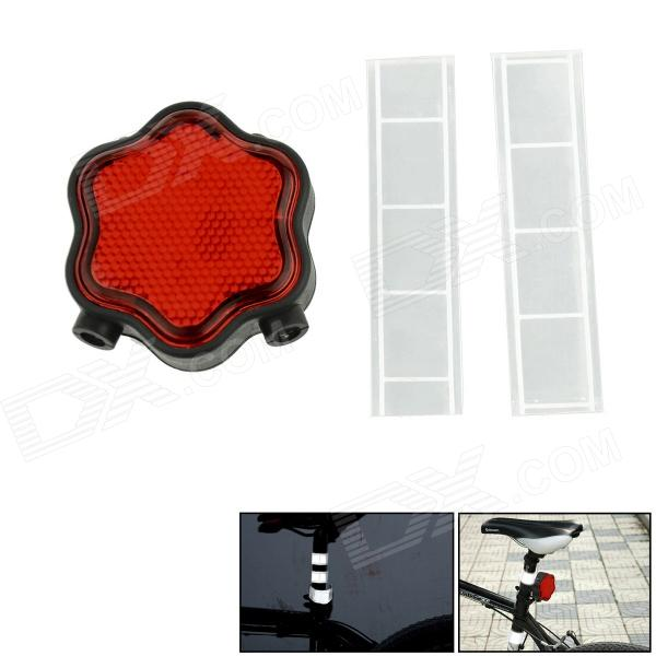 Plum-Shaped Laser Safety Bicycle Taillight Kit - Black + Red