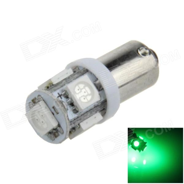 BA9S / T4W 1W 80lm 5 x SMD 5050 LED Green Car Light Indicator / Instrument / Clearance Lamp - (12V)