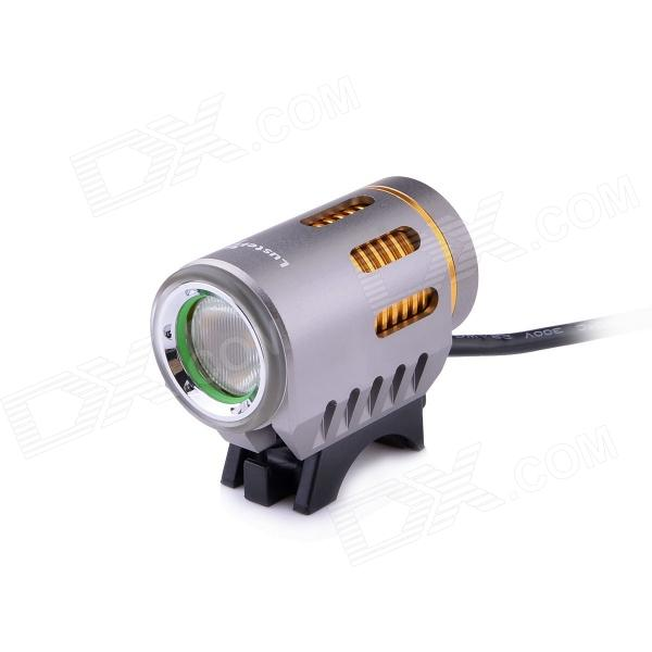 LusteFire P10 LED 5-Mode 800LM White Dipped Beam Bike Light w/ Halo Effect - Grey + Golden