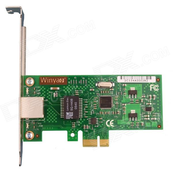 Winyao-WY574T-Intel-WG82574L-Chipset-PCI-E-X1-Server-Gigabit-Network-Card-Adapter-Green
