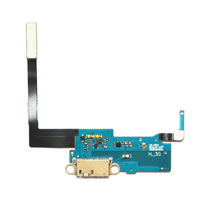 Buy Replacement USB Dock Charging Port Flex Cable for Samsung Galaxy Note 3 N9000 - Black + Silver with Litecoins with Free Shipping on Gipsybee.com