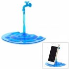 DS002 Creative eau de style robinet Polycarbonate + ABS de stand pour Iphone / Ipad / Samsung - Blue Lake