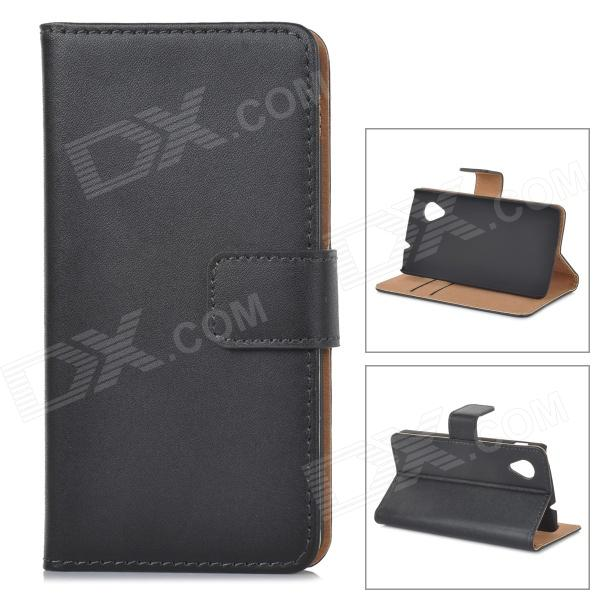 Protective PU Leather Case w/ Card Holder Slots for LG Nexus 5 - BlackLeather Cases<br>Form  ColorBlackBrandN/AModelN/AMaterialPU leatherQuantity1 DX.PCM.Model.AttributeModel.UnitCompatible ModelsLG Nexus 5Other FeaturesWith card holder slots; Protects your device from scratches, dust and shockPacking List1 x Protective case<br>