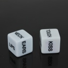 1.8cm Fun Game Dice - Blanc + Noir (2 PCS)
