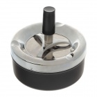 601-1 Creative Stainless Steel Springs Press Ashtray - Silver + Black