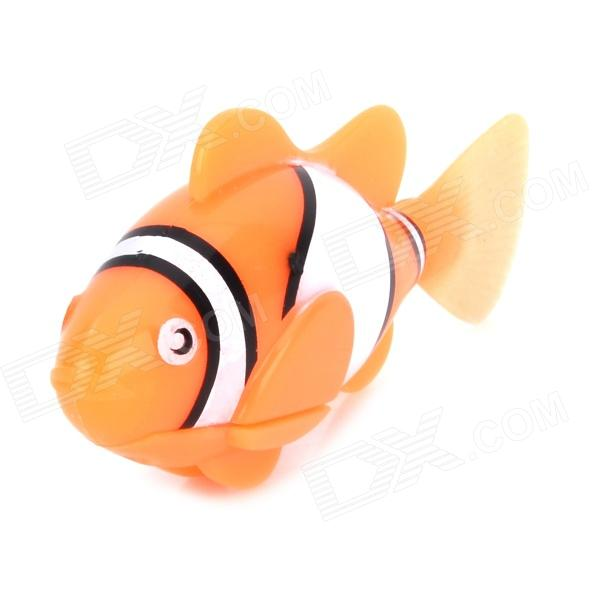 Buy 8823 ABS Water Playing Electronic Fish Toy - Light Orange + White + Multi-Colored (4x LR44) with Litecoins with Free Shipping on Gipsybee.com