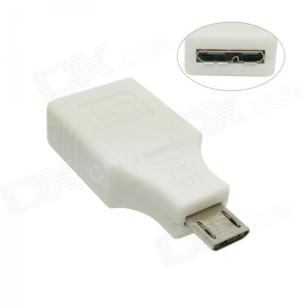 CY U3-127-WH Micro USB 3.0 9-Pin Female to Micro 5-Pin Male Adapter for Tablet PC / Phone - White