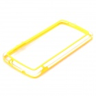 S-What Protective PC + TPU Bumper Frame Case for LG Nexus 5 - Yellow + Transparent