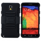 Cool Protective Plastic + TPU Case w/ Belt Clip for Samsung Galaxy Note 3 N9000 - Black