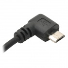 Cable de carga micro USB con resorte- Negro