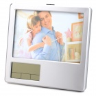 Multi-Function Photo Frame / Alarm Clock / Pen Holder - Silver (2 x AAA)
