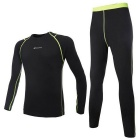 NUCKILY ME007 MF007 Men's Outdoor Sports Warm Suit for Hiking / Cycling - Black (L)