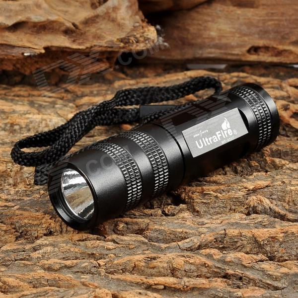 Buy UltraFire WF-602C LED 100lm 5-Mode Memory White Flashlight - Black (1 x CR123A / 16340) with Litecoins with Free Shipping on Gipsybee.com