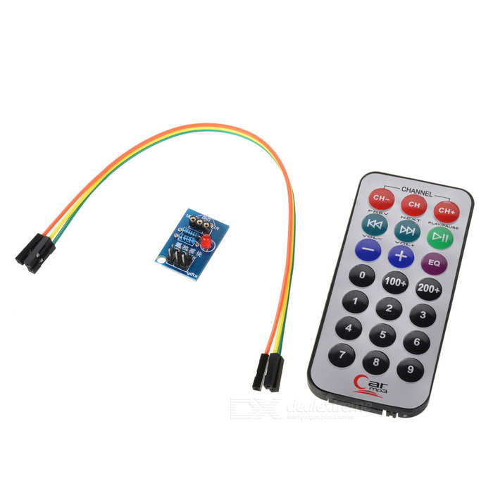 Encoding IR RC Module + HX1838 + N Receiver Set for Raspberry PiRaspberry Pi<br>BrandN/AModelN/AQuantity1 DX.PCM.Model.AttributeModel.UnitForm  ColorOthersMaterialABS + electronic elementEnglish Manual / SpecNoDownload Link   N/APacking List1 x Remote control (1 x CR2025)1 x IR receiver1 x Dupont line (21cm)<br>